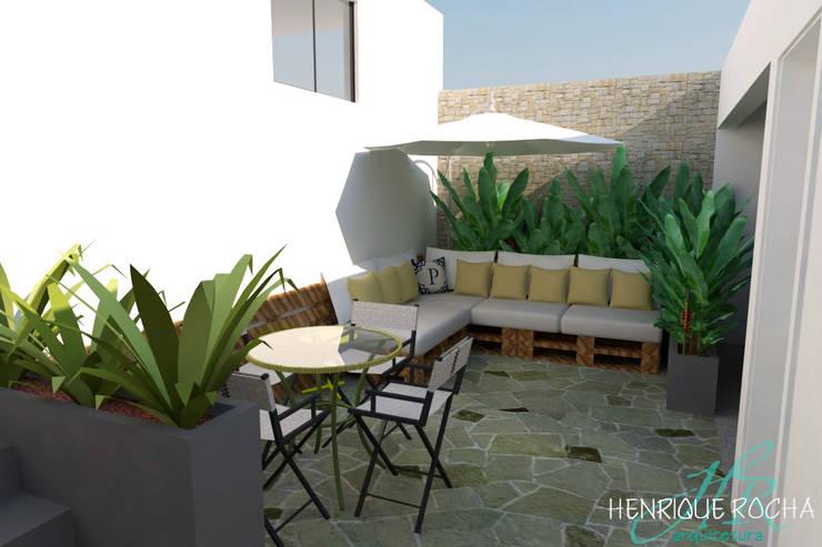 Área de lazer: Terraços  por Henrique Rocha Arquitetura