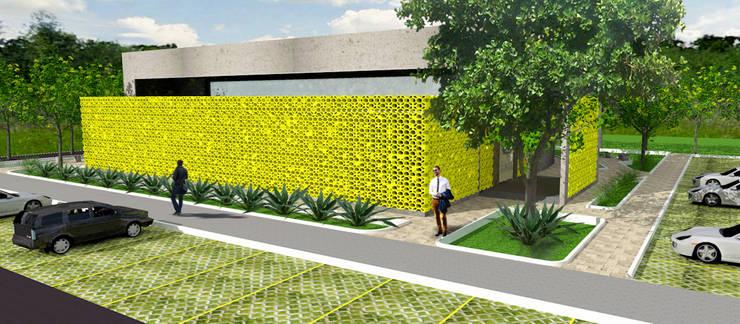 Fachada: Locais de eventos  por Henrique Rocha Arquitetura