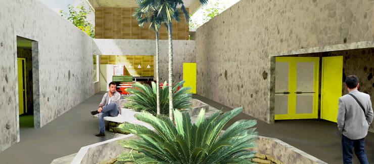 Foyer: Locais de eventos  por Henrique Rocha Arquitetura