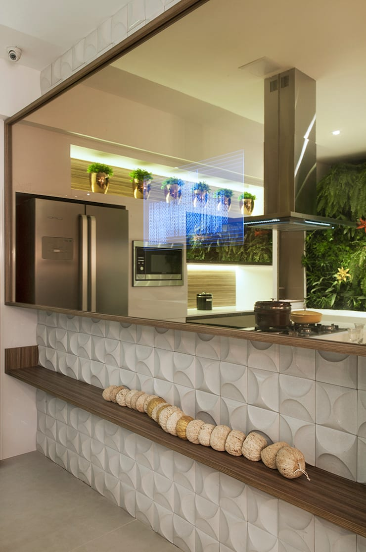 Cozinha Gourmet Casa Cor ES: Cozinhas  por daniela andrade arquitetura