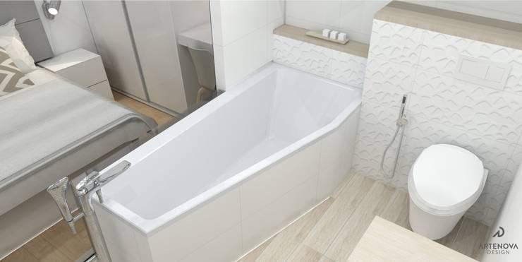 Minimalistyczne mieszkanie w Warszawie: styl , w kategorii Łazienka zaprojektowany przez Artenova Design