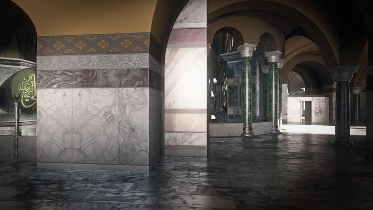 3danimasyon – Ayasofya 3d Proje:  tarz Koridor ve Hol