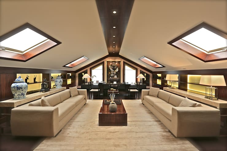 Studio moderno di Kerim Çarmıklı İç Mimarlık Moderno
