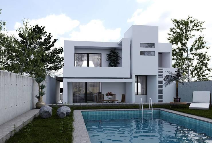 Projectos y Espacios: Casas de estilo  por 3harquitectos