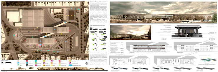 TERMINAL DE TRANSPORTE CENTRAL TAXQUEÑA: Edificios de oficinas de estilo  por TPR ARQUITECTOS