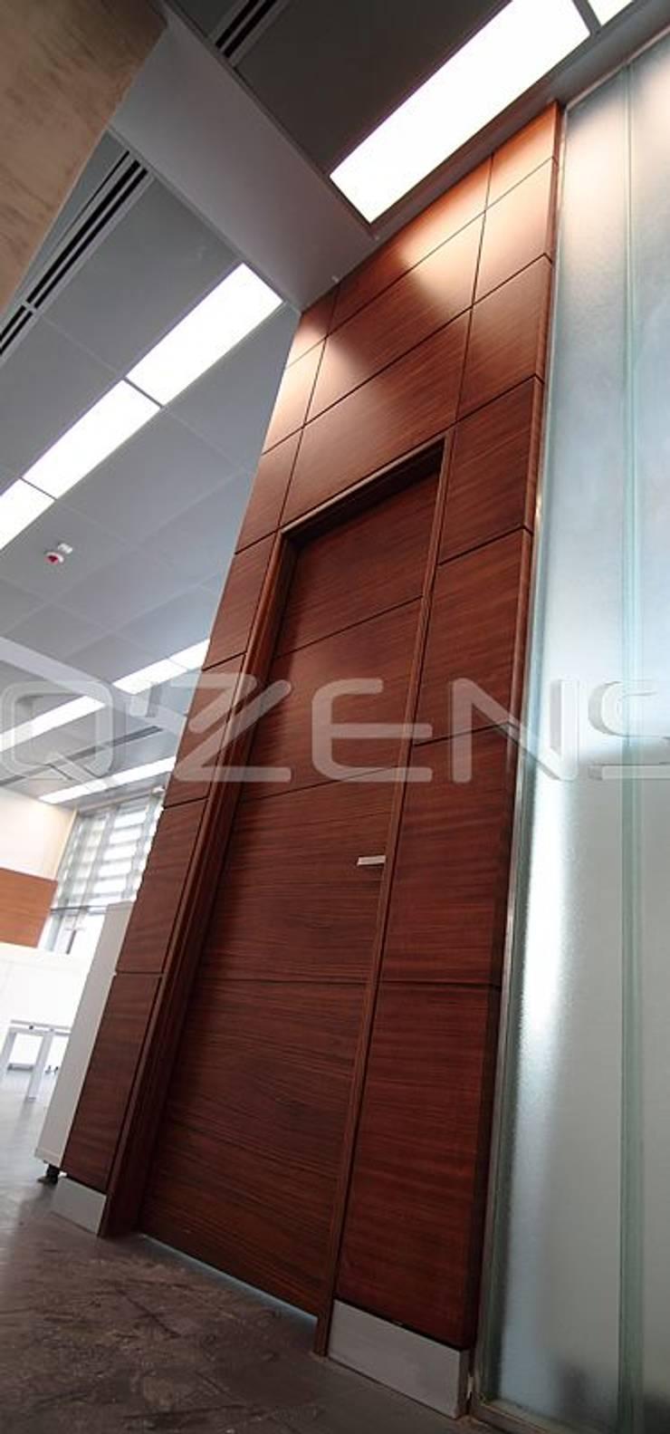 QZENS MOBİLYA – Merkez Bankası Bursa Hizmet Binası:  tarz Ofis Alanları