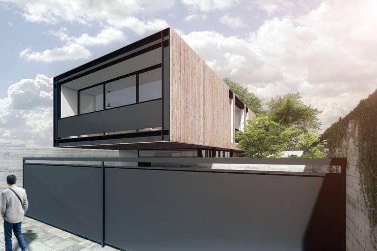 Residência 456: Casas  por Commune Arquitetura