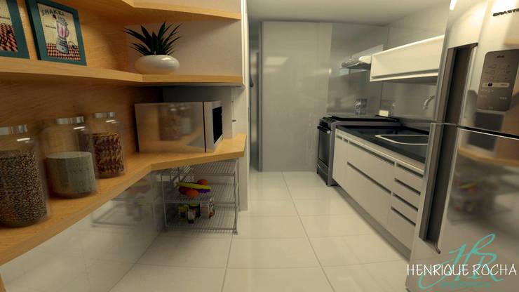 Cozinha: Cozinhas  por Henrique Rocha Arquitetura,Moderno MDF