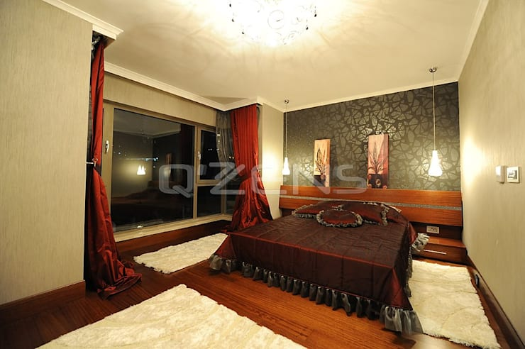 QZENS MOBİLYA – Park Yıldız Konutları :  tarz Yatak Odası