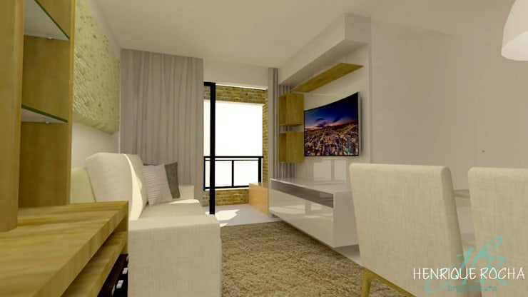 Sala de estar: Salas de estar  por Henrique Rocha Arquitetura,Moderno MDF