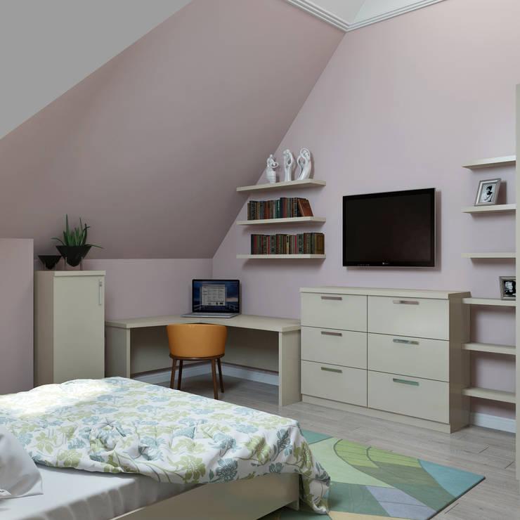 Dormitorios de estilo minimalista por АЛЕКСАНДР ЕЛАШИН. СТУДИЯ ДИЗАЙНА ЭЛИТНЫХ ИНТЕРЬЕРОВ.