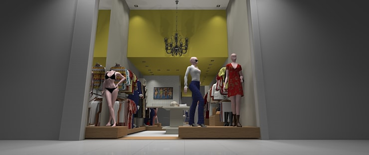 Projeto: Lojas e imóveis comerciais  por ROSANA MEIRELLES - Arquitetura e Decoração,