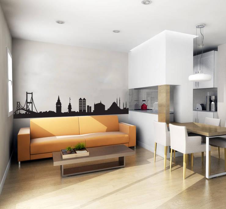 Decoración de Paredes: Paredes y pisos de estilo  por Kunst Interior