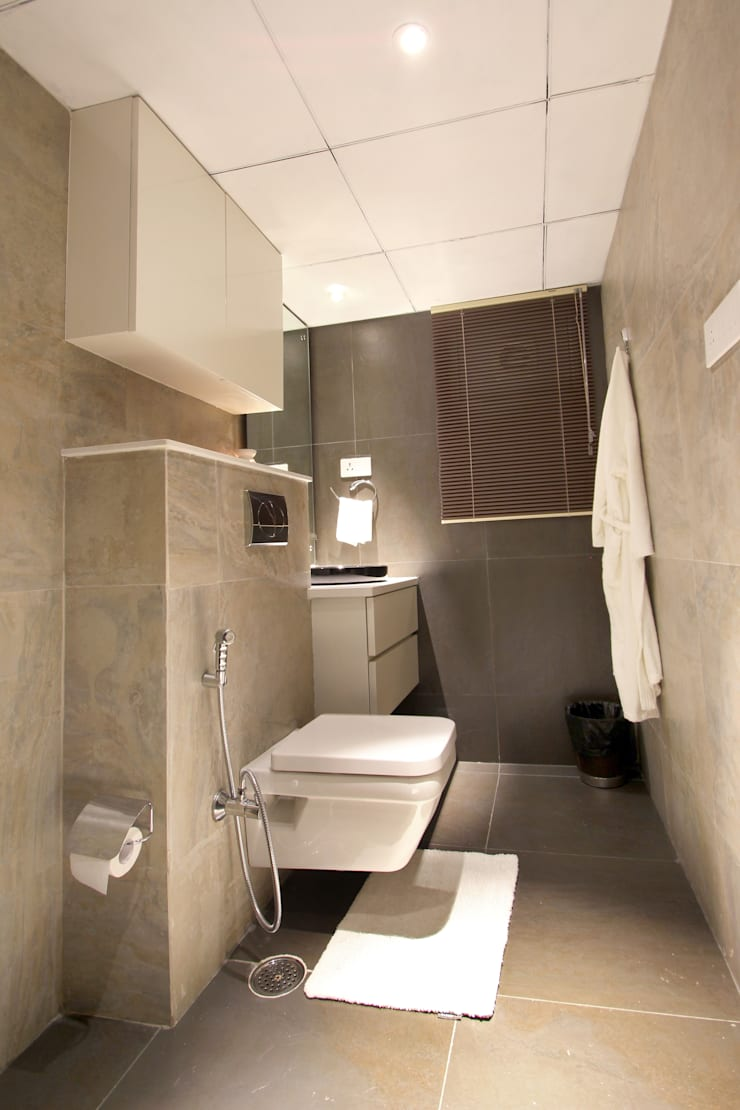 Apartment: modern Bathroom by NA ARCHITECTS