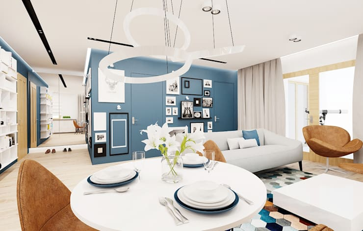 modern Living room by Ale design Grzegorz Grzywacz