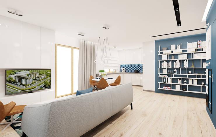 60m2 mieszkanie w Dąbrowie Górniczej: styl , w kategorii Salon zaprojektowany przez Ale design Grzegorz Grzywacz