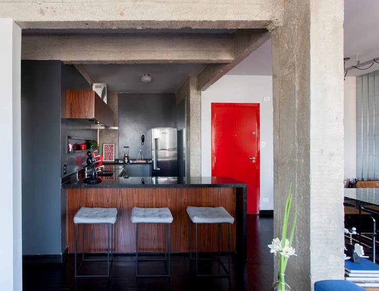 APARTAMENTO CERQUEIRA CESAR: Cozinhas modernas por Tria Arquitetura