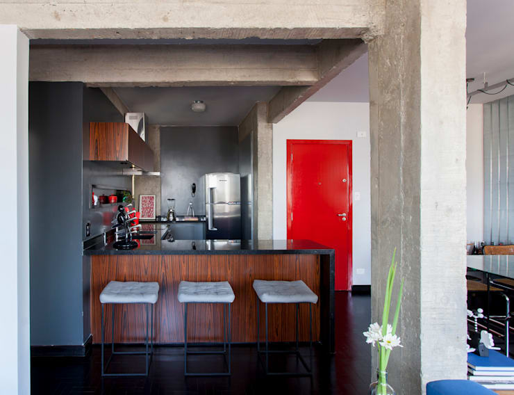 Cocinas de estilo  por Tria Arquitetura