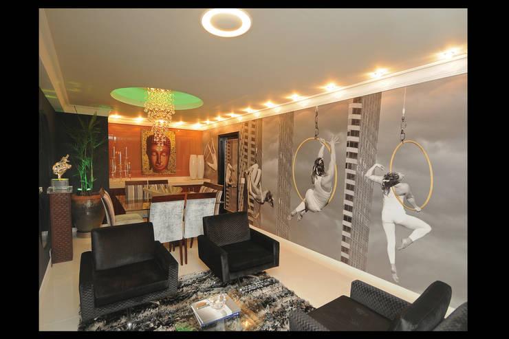 Design de Interiores – Apartamento Cobertura : Salas de jantar  por Luciano Esteves Arquitetura e Design