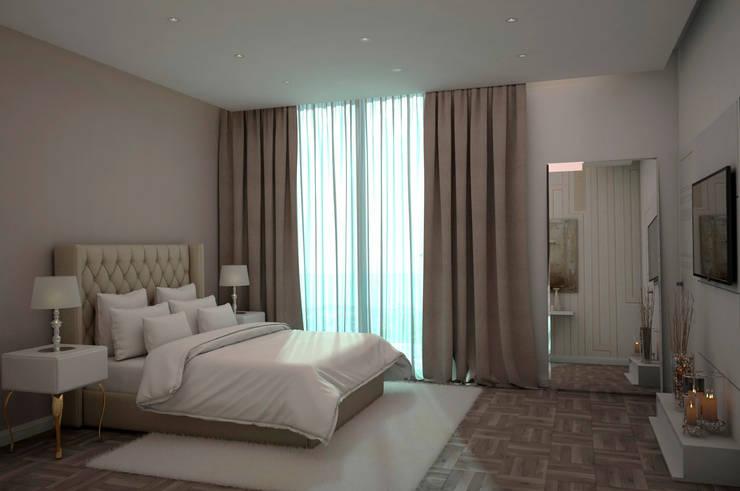 Diseño de Habitación: Cuartos de estilo moderno por Gabriela Afonso
