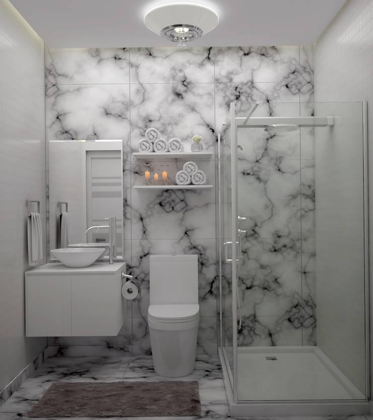 Diseño de Baño Pequeño: Baños de estilo  por Gabriela Afonso