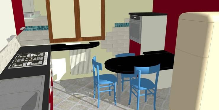Rendering cucina: Cucina in stile  di Arreda Progetta di Alice Bambini,