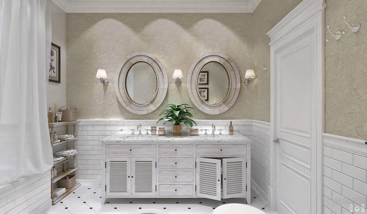 Прованс на Крестовском: Ванные комнаты в . Автор – 1+1 studio