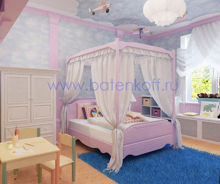 Chambre d'enfant de style de stile Rural par Дизайн студия 'Дизайнер интерьера № 1'
