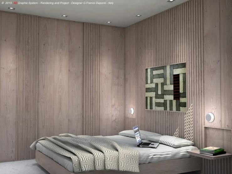 Ristrutturazione Appartamento 56mq: Camera da letto in stile  di 3D Graphic System