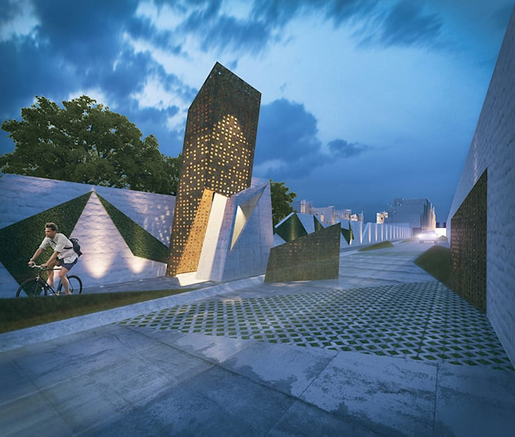 Render 3: Casas de estilo  por Proyecto Cafeina