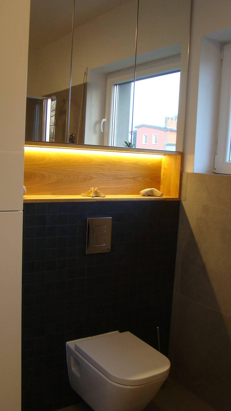 mieszkanie Plewiska: styl , w kategorii Łazienka zaprojektowany przez Kara design. Pracownia Projektowa Karolina Pruszewicz