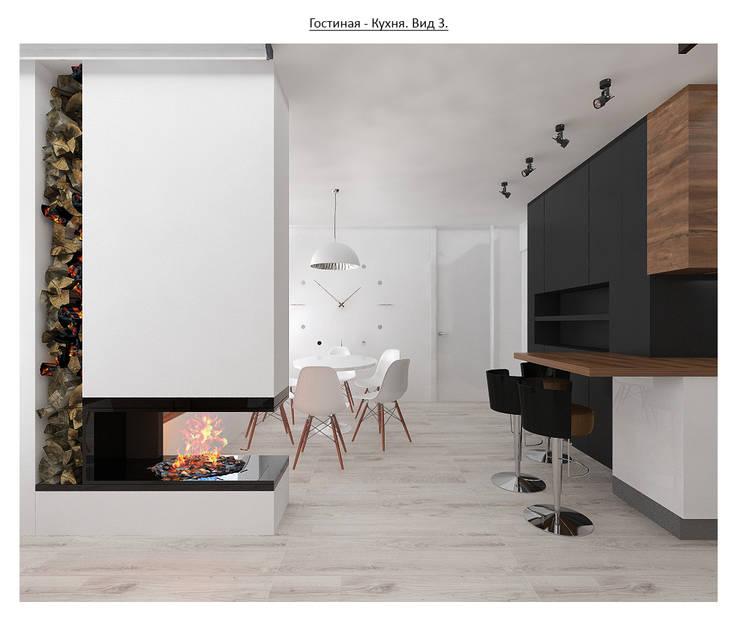 чистый проект: Гостиная в . Автор – Circus28_interior