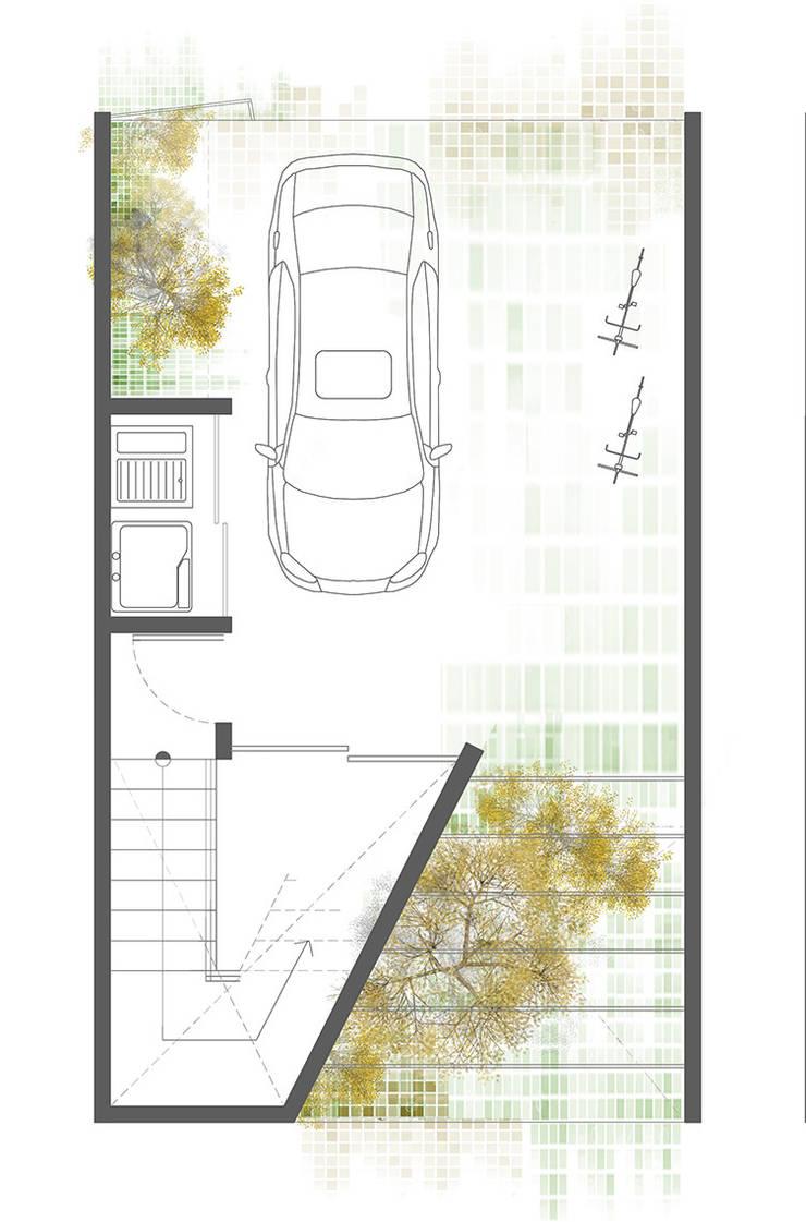 Planta 1:  de estilo  por Proyecto Cafeina