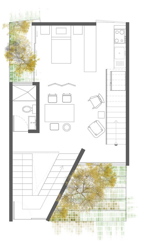 Planta 2:  de estilo  por Proyecto Cafeina