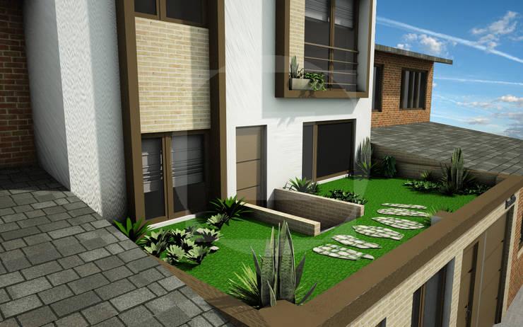 Fachada Principal:  de estilo  por JELKH Design Architects s.a.s