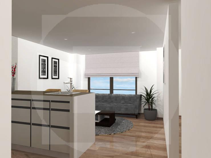 Aparta-Estudio -Tipo 1 :  de estilo  por JELKH Design Architects s.a.s