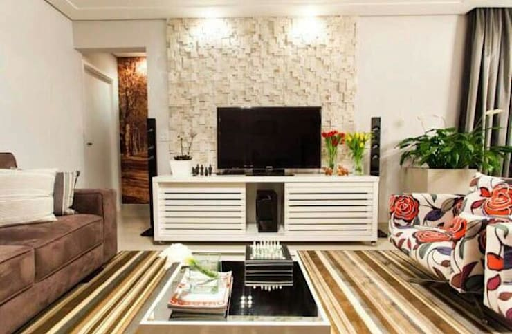 غرفة المعيشة تنفيذ Drika Passos Design