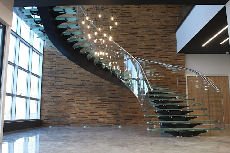 Visal Merdiven – Akkim Hollow Fibre ÜB - YALOVA:  tarz Koridor, Hol & Merdivenler