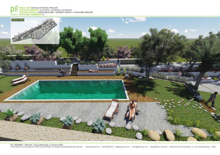 Jardines de estilo  por Pil Tasarım Mimarlik + Peyzaj Mimarligi + Ic Mimarlik
