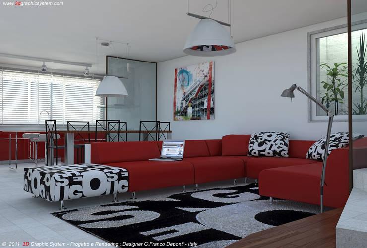 غرفة المعيشة تنفيذ 3D Graphic System