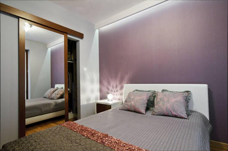 Damska sypialnia: styl , w kategorii Sypialnia zaprojektowany przez ZAWICKA-ID Projektowanie wnętrz