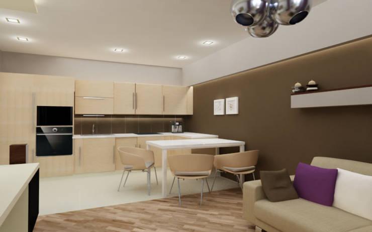 Kuchnia i kącik jadalniany: styl , w kategorii Kuchnia zaprojektowany przez ZAWICKA-ID Projektowanie wnętrz
