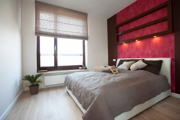 Sypialnia : styl , w kategorii Sypialnia zaprojektowany przez ZAWICKA-ID Projektowanie wnętrz,Nowoczesny