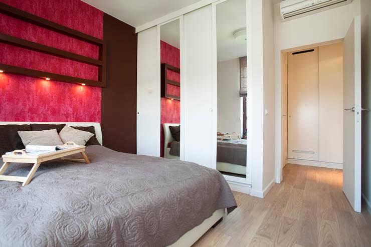 Sypialnia: styl , w kategorii Sypialnia zaprojektowany przez ZAWICKA-ID Projektowanie wnętrz,Nowoczesny