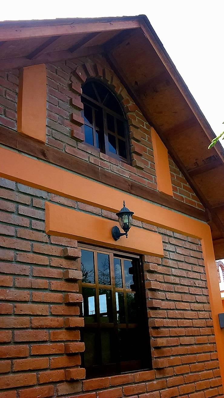 CABAÑA EN ATOTONILCO EL GRANDE HGO : Casas de estilo  por OMR ARQUITECTURA & DISEÑO DE INTERIORES