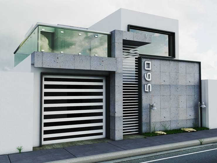 Propuesta de Fachada 1: Casas de estilo  por Modulor Arquitectura