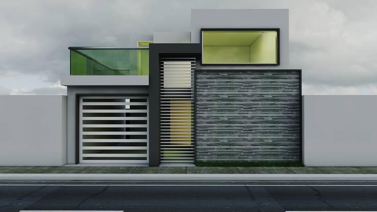 Propuesta de Fachada 2: Casas de estilo  por Modulor Arquitectura