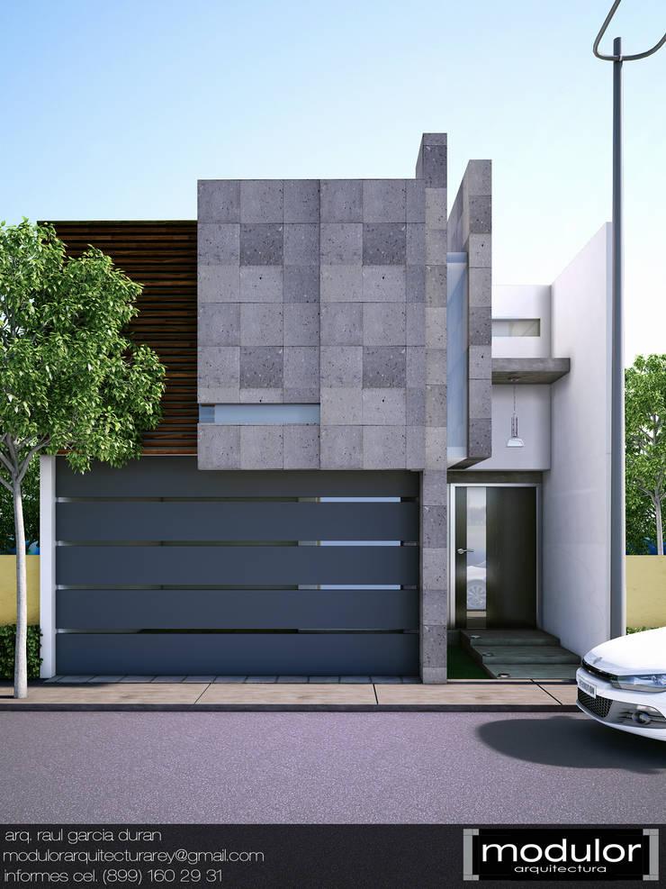 Fachada MRios: Casas de estilo  por Modulor Arquitectura