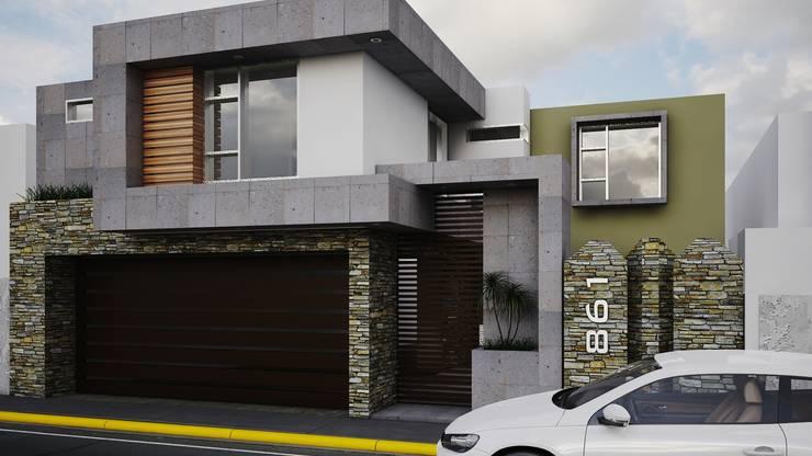Fachada Vlad 861: Casas de estilo  por Modulor Arquitectura