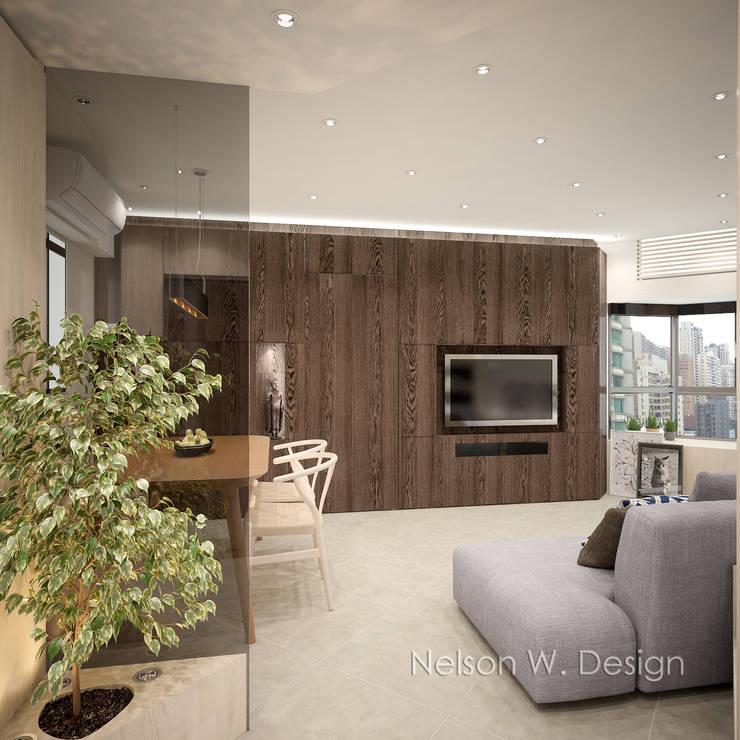 Illumination Terrace 光明臺 | Tai Hang Road 大坑道:  Living room by Nelson W Design